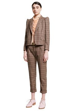 Tuppence George Suiting Trouser MOCHA 1