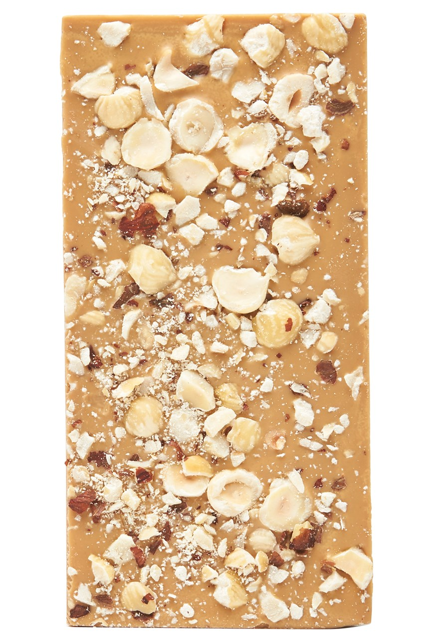 Hazelnut Caramelised White Chocolate Bar
