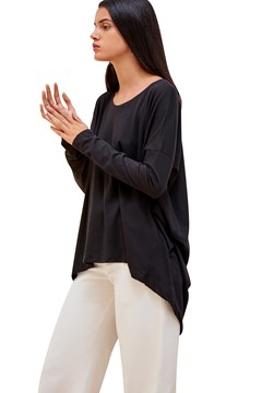 *Building Block Drape Top BLACK 1