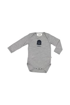 Long Sleeve Bodysuit GREY MARL 1