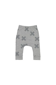 Mini Slouch Pant - grey marl