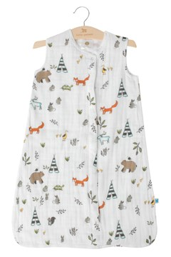 Cotton Muslin Sleep Bag FOREST FRIENDS 1