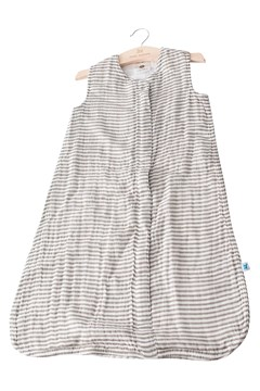 Cotton Muslin Sleeping Bag - grey stripe
