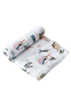 Cotton Muslin Single Swaddle MEOW 1