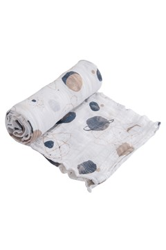 Cotton Muslin Single Swaddle PLANETARY 1