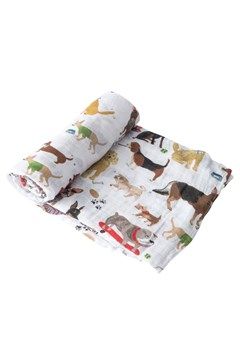 Cotton Muslin Single Swaddle WOOF 1