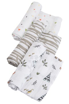 Cotton Muslin Swaddle 3 Pack FOREST FRIENDS 1