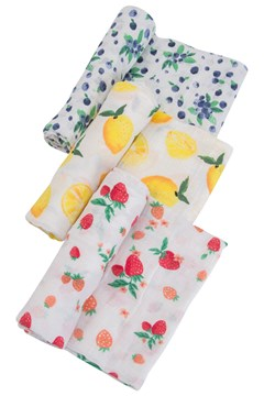 Cotton Muslin Swaddle 3 Pack BERRY LEMONADE 1