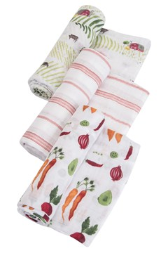 Cotton Muslin Swaddle 3 Pack FARMERS MARKET 1