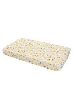 Cotton Muslin Standard Cot Sheet LEMON 1
