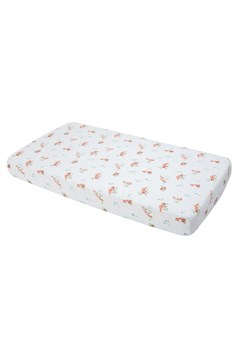 Cotton Muslin Standard Cot Sheet FOX 1