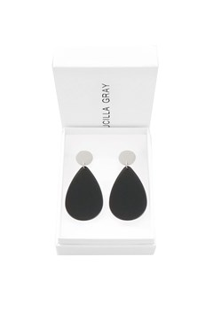 Aurora Stud Earrings - Large SILVER DARK GREY 1