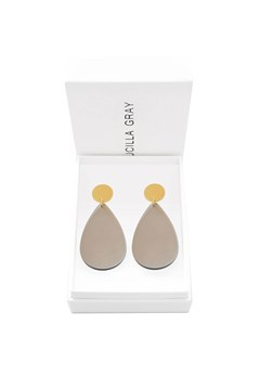 Aurora Stud Earrings - Large GOLD LIGHT BROWN 1