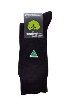 Mercerised Cotton Health Sock BLACK (009) 1