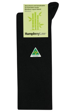 Sustainable Bamboo Rayon Sock 009 BLACK 1
