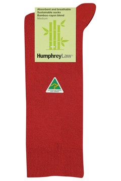 Sustainable Bamboo Rayon Sock 025 RED 1