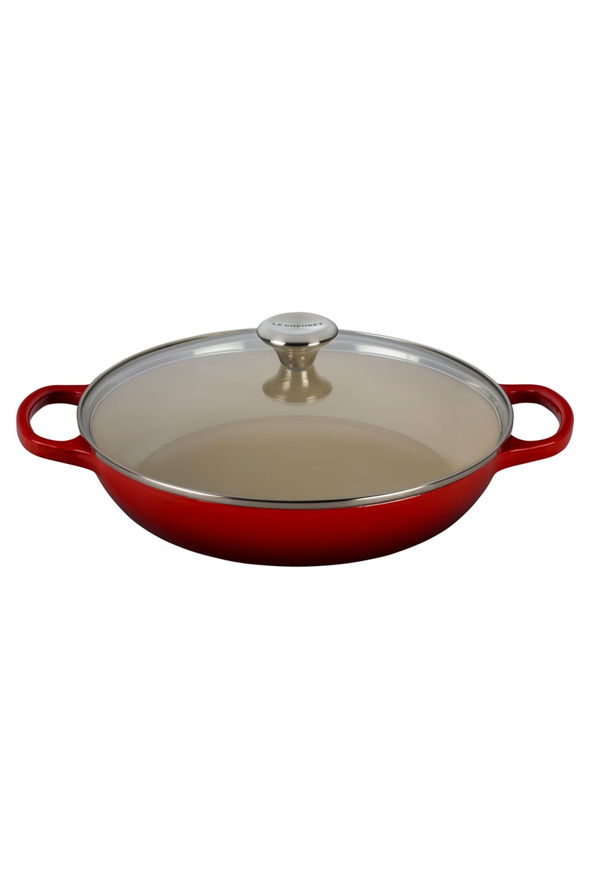Cast Iron Signature Shallow Casserole with Glass Lid 30cm