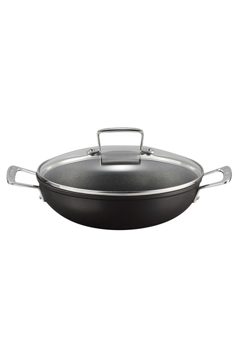 Toughened Non-Stick Shallow Casserole With Lid - 26cm -
