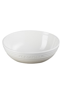 Stoneware Oval Serving Bowl - 29cm - meringue