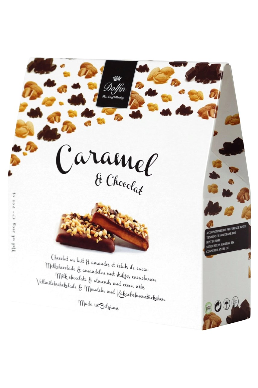 Milk Chocolate Toffee Caramels With Almond