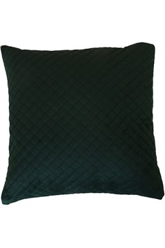 Velvet Linen Cushion DARK GREEN 1
