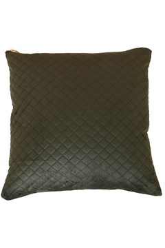 Velvet Linen Cushion OLIVE GREEN 1