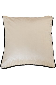 Velvet Piped Cushion IVORY 1