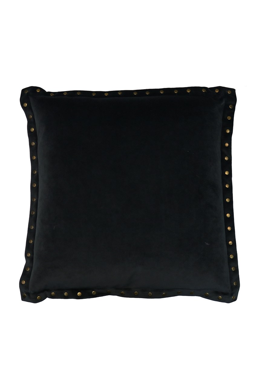 Velvet Stud Charcoal Cushion - 45cm