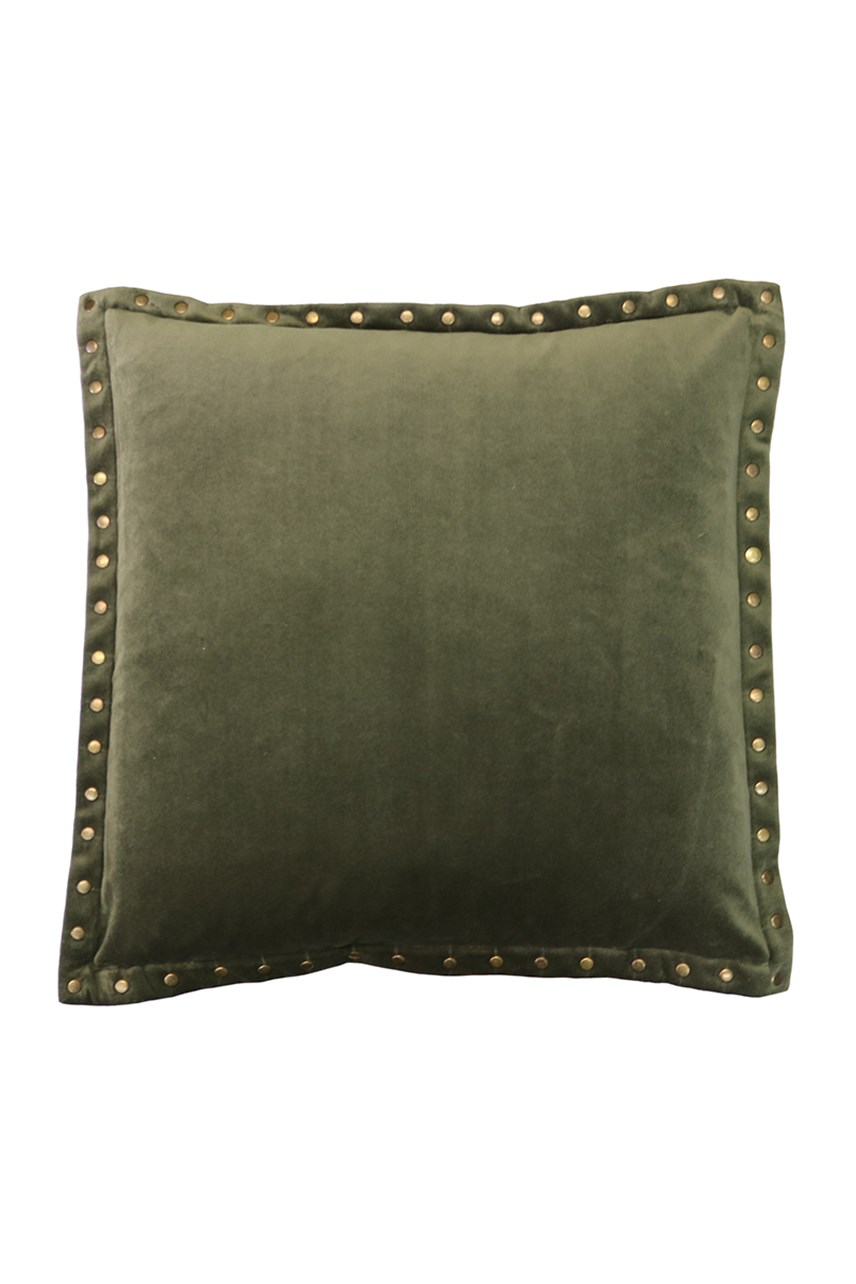 Velvet Stud Green Cushion - 45cm
