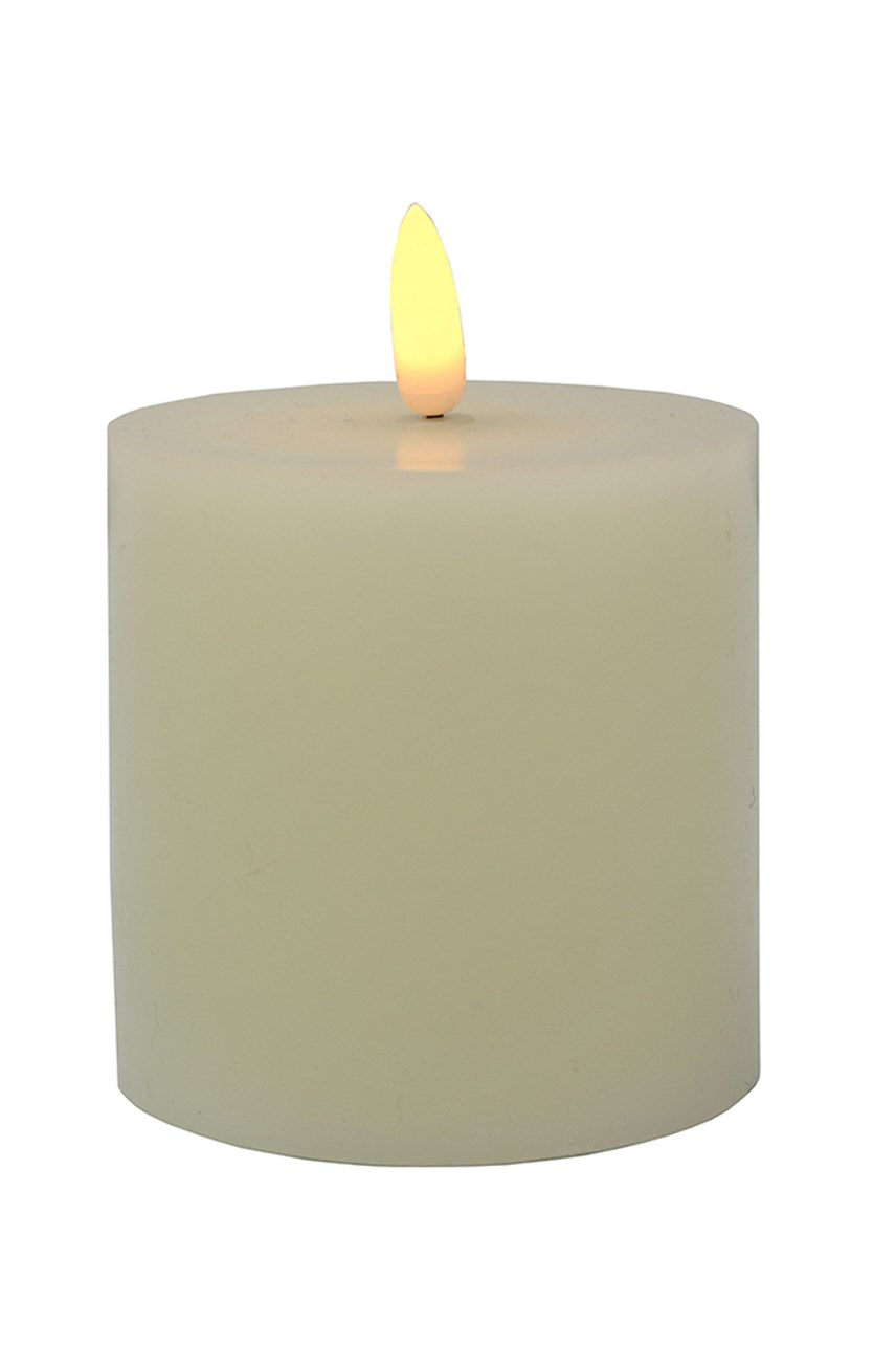 LED Pillar Candle - 7.5cm