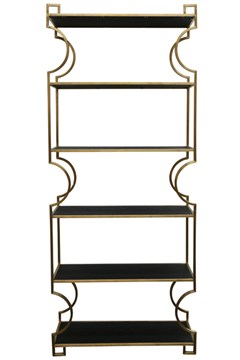 Broadway Bookcase BLACK GOLD 1