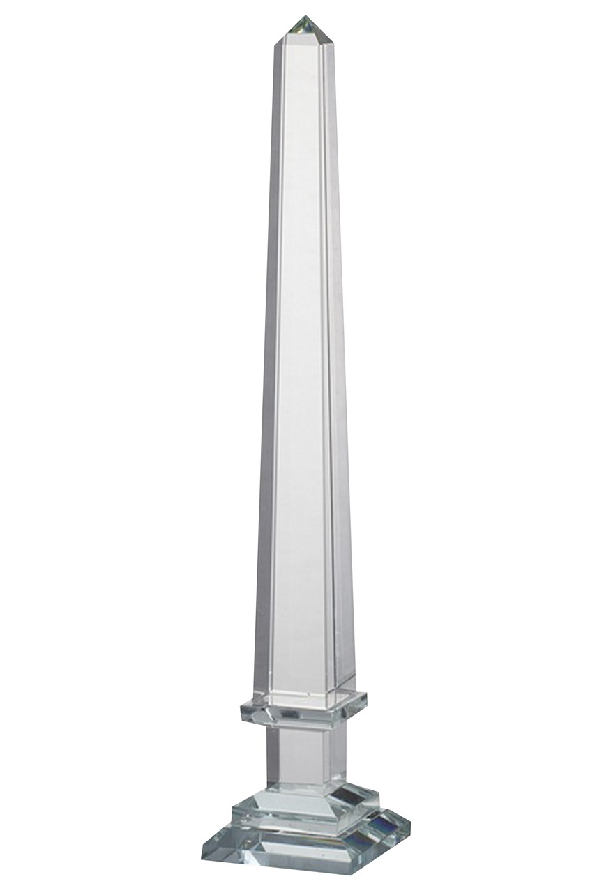 Clear Glass Obelisk - Large
