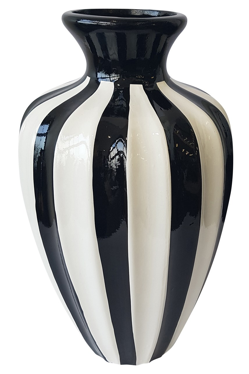Luxe Bold Striped Vase