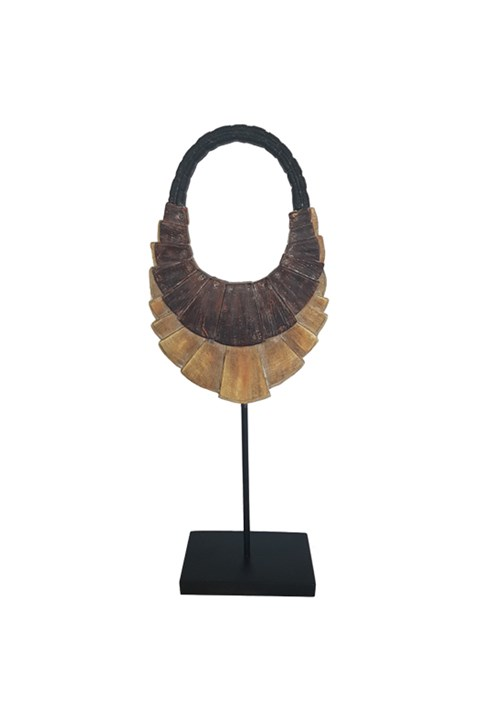 Resin Wood Necklace On Stand -
