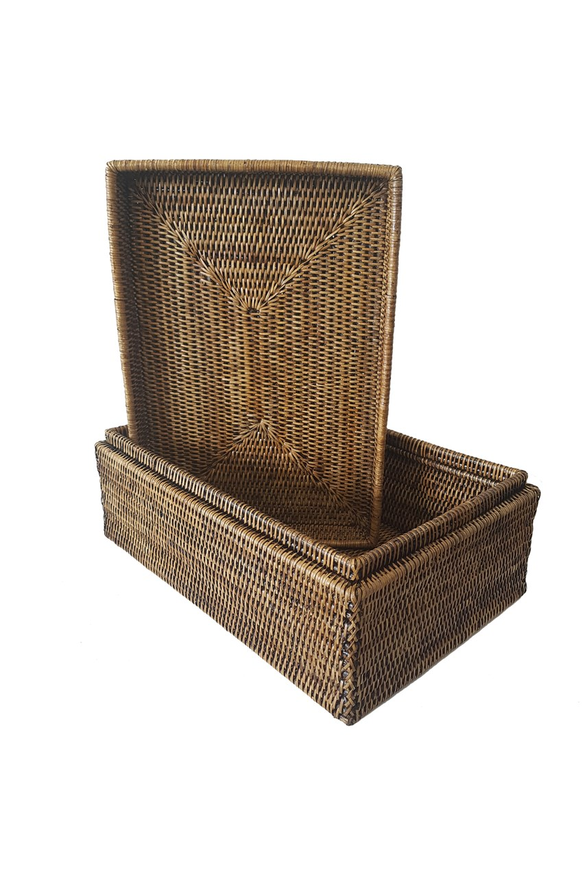 Rattan Laundry Trunk - Medium