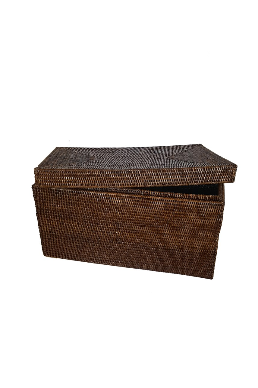 Rattan Large Trunk with Lid