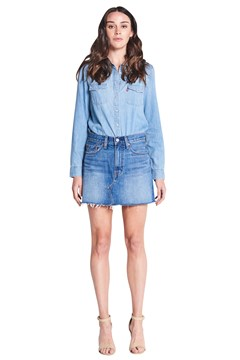 Deconstructed Denim Skirt Middle Man