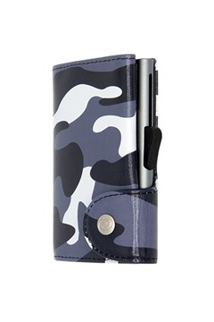 Printed Credit Card Wallet CAMO BLACK 1