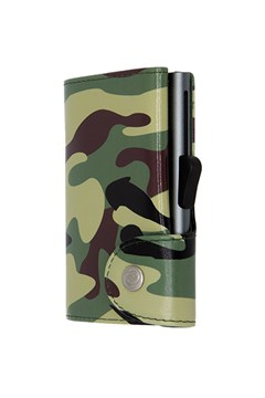 Printed Credit Card Wallet CAMO GREEN 1