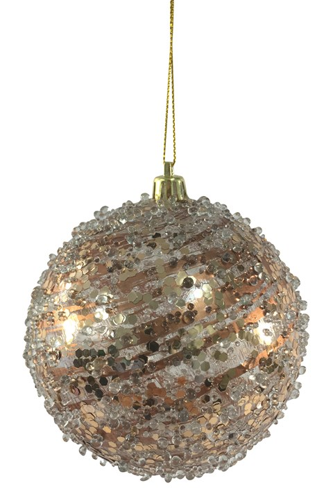 Frosted Copper Ball Hanger - cooper