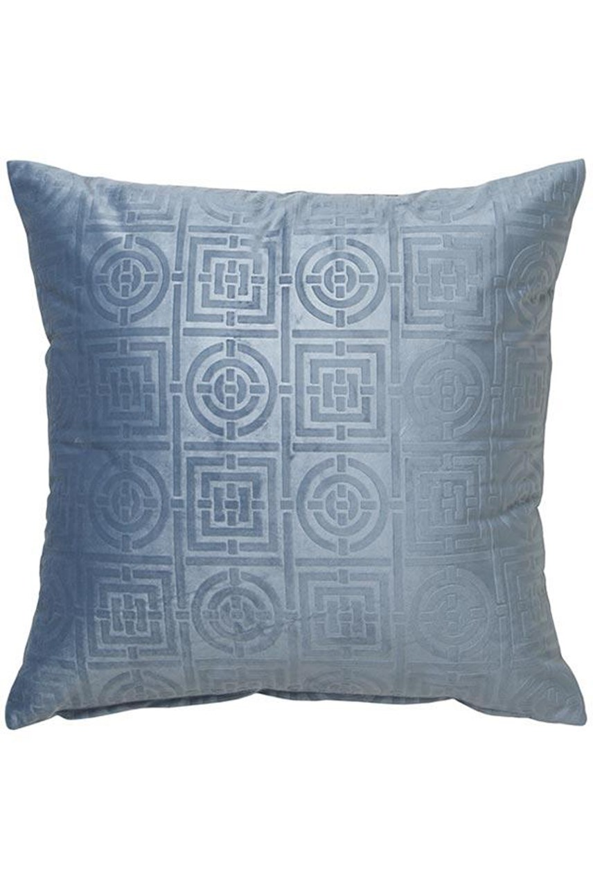 Circles & Squares Velvet Cadet Square Cushion