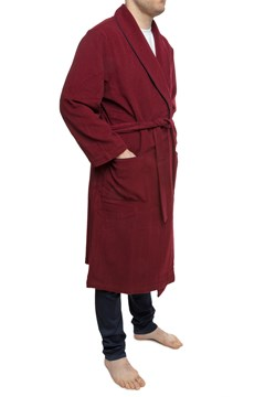 Lugano Wool Cashmere Robe - bordo