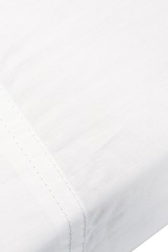 100% Egyptian Cotton 310 Percale Sheet Set - KING SINGLE - white