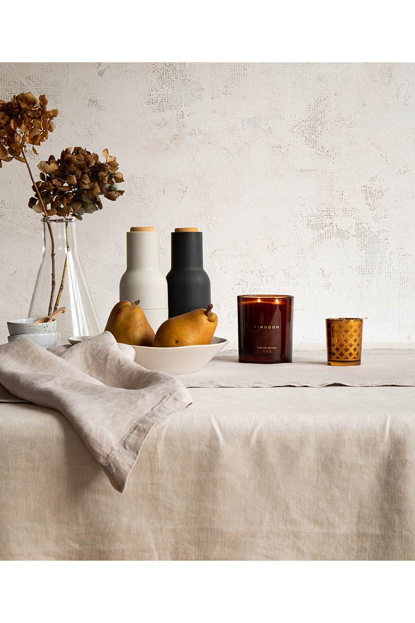 Brulee Linen Tablecloth