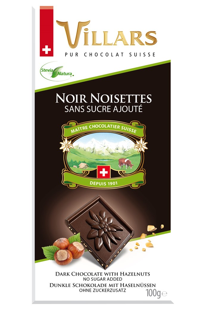 Swiss Dark Chocolate Bar With Hazelnuts
