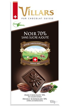 Swiss Dark Chocolate Bar (70%) 1