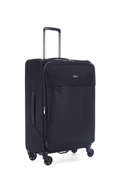 Oxygen Medium Four Wheel Super Light Suitcase BLACK 1
