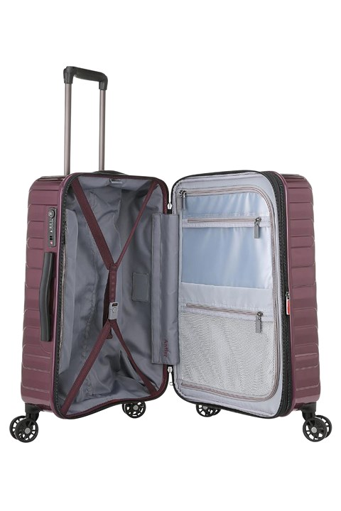 Viva 4 Wheel Roller Case - Medium - aubergine