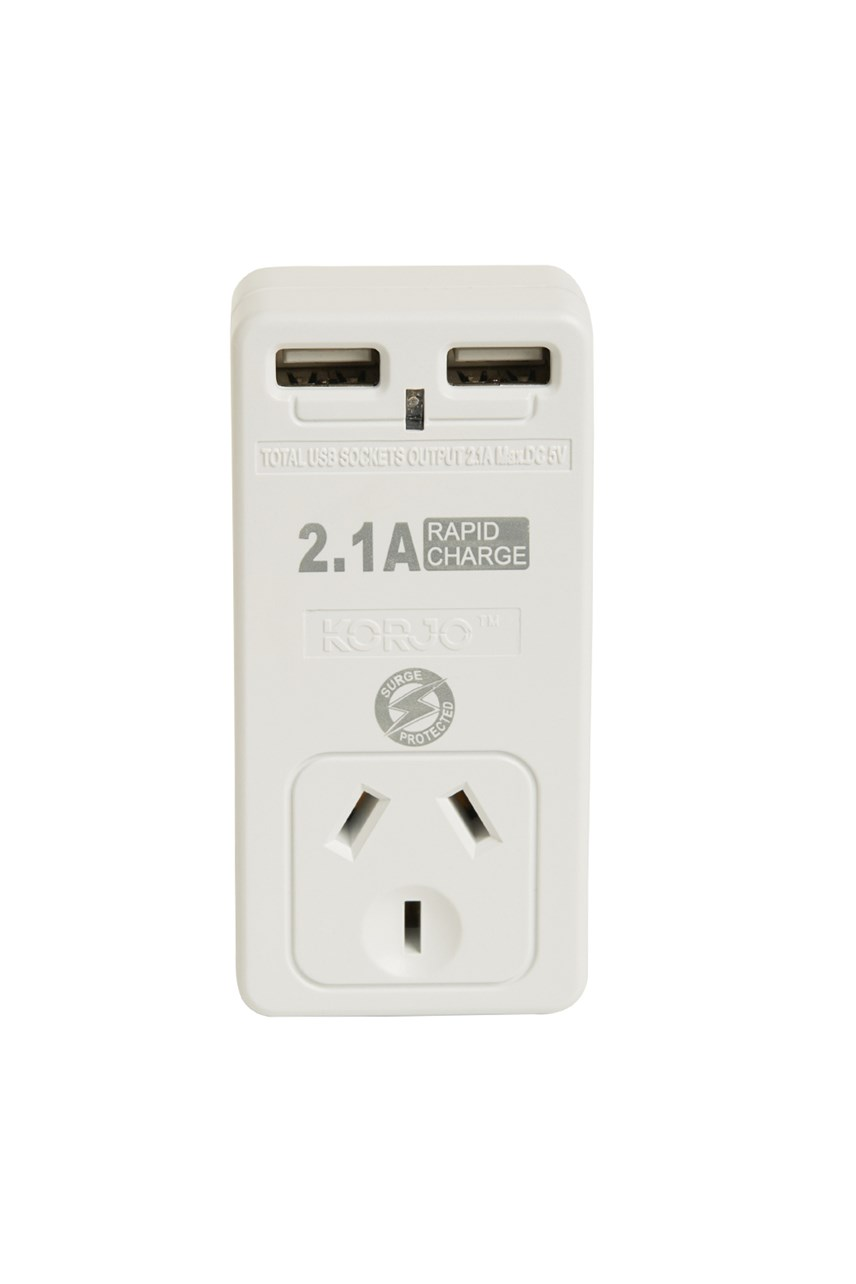 Double USB & Power Adaptor – For AU/NZ