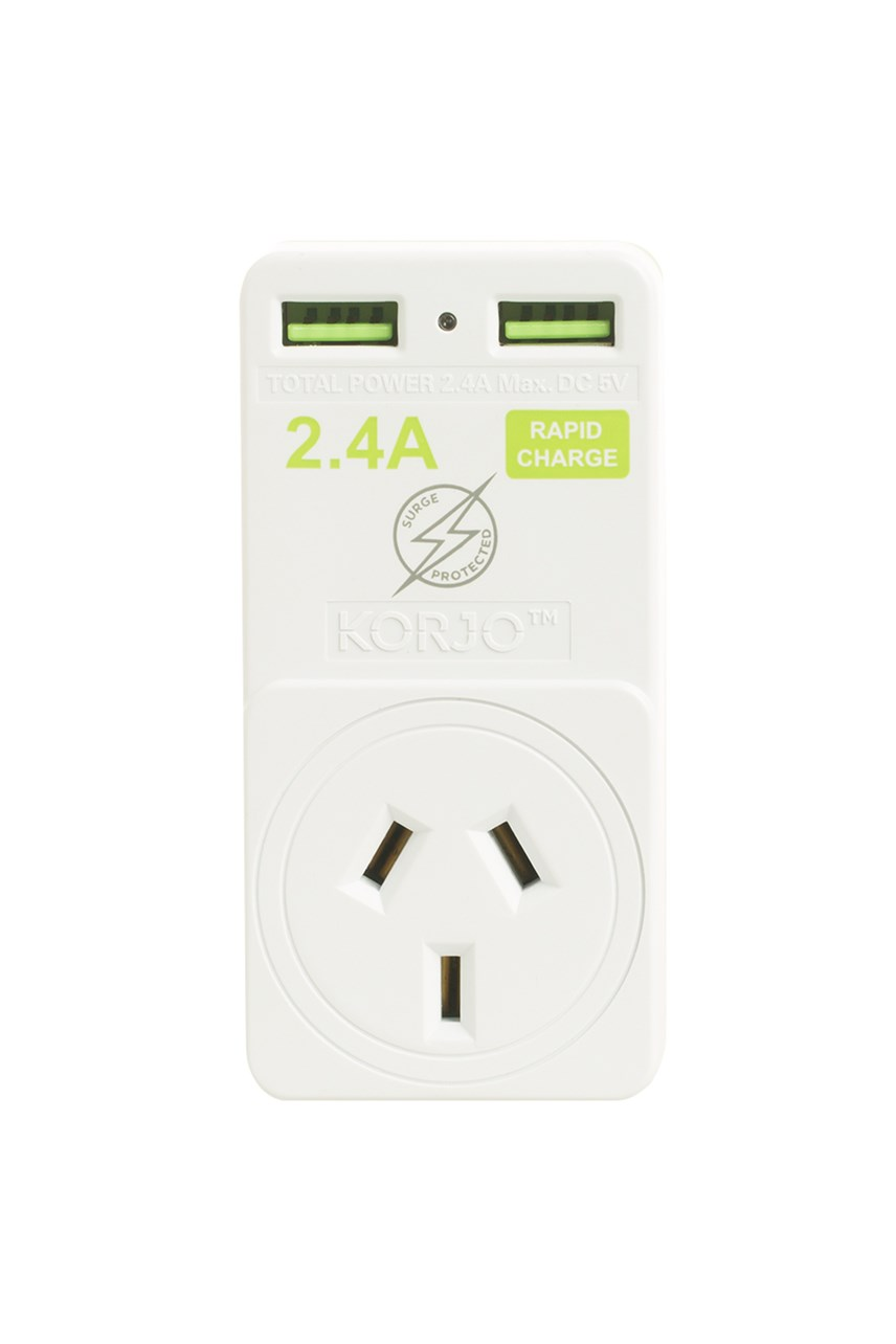 Double USB & Power Adaptor – For Europe